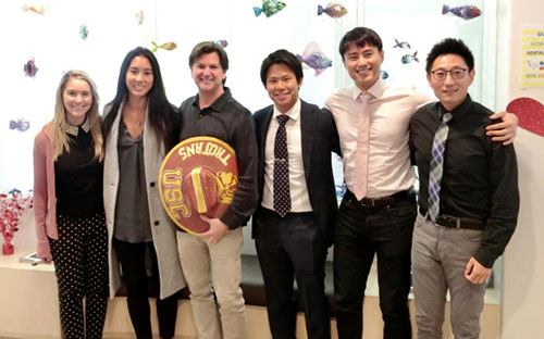 USC GRADUATE ORTHODONTIC RESIDENTS YEARLY VISIT TO OUR OFFICE