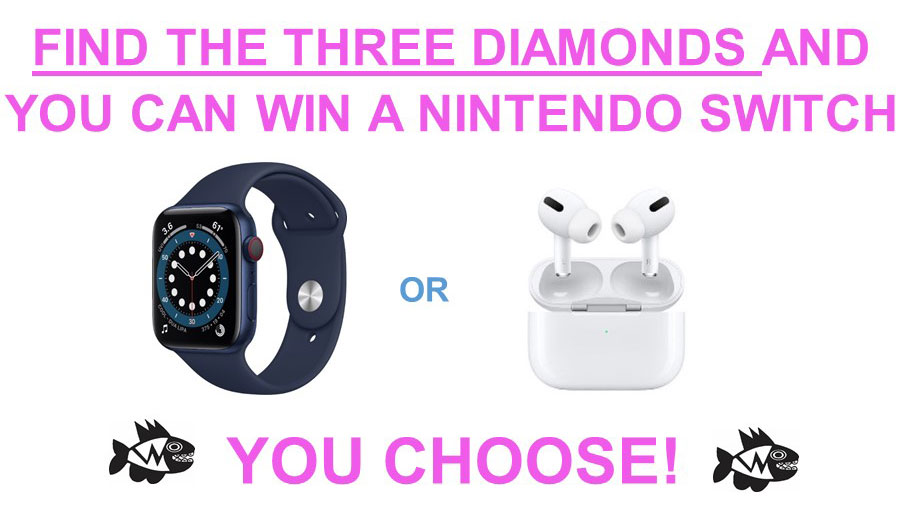 Choose your prize:  Apple Airpods or Apple Watch!